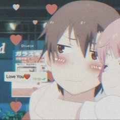 metadinha ♡ Anime Chibi, Sad Anime, Anime Kawaii, Manga Anime, Anime Art, Anime Couples Drawings, Cute Anime Couples, Cute Wallpaper Backgrounds, Cute Wallpapers