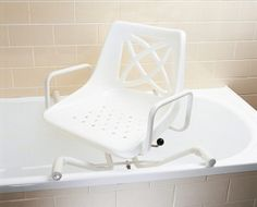 This is what I'd need at present if I had a bath (got one now), is too heavy to move by self, so can only have showers anyway. A walk-in shower would remove the need for this sort of malarky, if there was a seat in there.