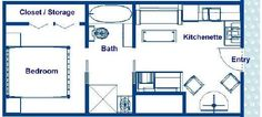 300 Sq Ft. House Designs | Stateroom Floor Plans, 300 sq ft Vacation Residence Floor plans ...