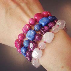Lola Rose, Ruby Gemstone, Blue Sapphire, Purple, Pink, Beaded Bracelets, Gemstones, Jewels, Jewellery