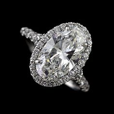 14K Gold Cut Down Micropave Halo Oval Diamond Engagement Ring Mounting   OroSpot - Jewelry on ArtFire