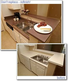 . Refinishing can completely restore your laminate countertops ...