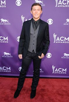 """""""American Idol"""" champ Scotty McCreery looked ready for his first Academy of Country Music Awards show."""