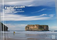 Campaña #asturiasven cartel naturaleza, playa. Asturias. ©Foto Roberto Tolín