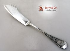 Tiffany Antique Ivy Engraved Cheese Pick Knife Sterling Silver 1870 from berrycom-com-flatware on Ruby Lane