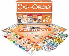 This purrfect board game will provide hours of fun for cat lovers. Based on the iconic Monopoly, Cat Opoly has its own quirky tokens, a . Crazy Cat Lady, Crazy Cats, Big Cats, Cat Lover Gifts, Cat Lovers, Pet Gifts, Gadget, Tonkinese, Cat People
