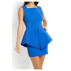 Gracia peplum cocktail dress Royal Blue Gracia peplum cocktail dress. Open back with zipper. Fits sizes 4-6. Worn once, 65% Rayon, 33% Nylon, 2% spandex. Such a beautiful fit. Gracia Dresses Midi