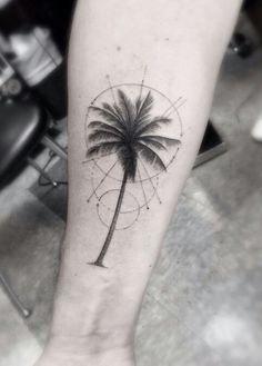 Geometric Palm Tree