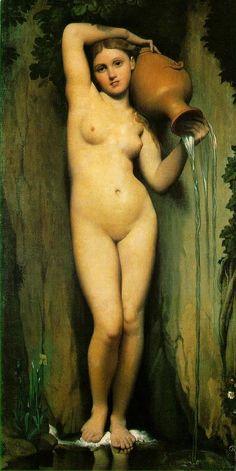 Jean Auguste Dominique Ingres' The Source (1856) <3