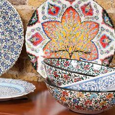 Christmas Table Jewels - Hand-shaped & painted Turkish ceramics