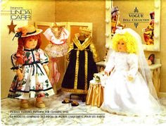 "Vogue 8557 18"" doll clothes gown veil   slippers dress hat bodysuit tutu tights shoes. 1992 american girl etc."