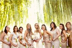 ♡MAIDS:Mismatched Bridesmaid Dresses♡  in Champagne | Bridesmaids-dresses-mix-and-match-gold-champagne.full