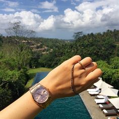 When you're in Balinese heaven like Elle Lee you forget the time, and just take in the view wearing your favourite gold jewellery. #LoveGold #Wanderlust