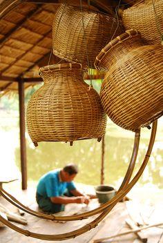 thai woven baskets