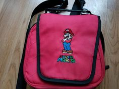 Original Red Nintendo Licensed Super Mario Universal Transporter Case, Game Carrying Case, Travel Bag Nintendo Dsi, Nintendo Ds Lite, Super Mario, Retro Game Systems, Ds Games, Retro Video Games, Nylon Bag, Bago, Tote Purse