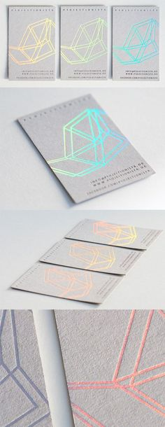 Modern Styling On A Holographic Foil Business Card For A Musician