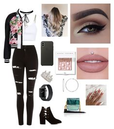 """""""Untitled #87"""" by andreasoria014 on Polyvore featuring Topshop, Alexander Wang, Dolce&Gabbana, Hudson, Apple, WithChic, Marc Jacobs and Bobbi Brown Cosmetics"""