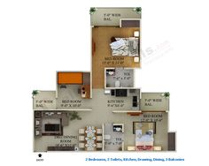 2 BHK Flat in supertech ecociti noida Extension