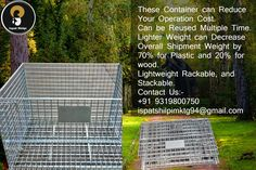 These container can reduce your operation cost. Can be Reused Multiple Time. Lighter Weight can decrease overall shipment weight by for Plastic and for wood. Lightweight Rackable, and Stackable. Organizational Goals, Wire Mesh, Company Names, Lighter, Cage, Container, Plastic, Wood, Business Names