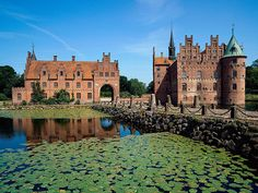 Egeskov Castle, Europe's best preserved Renaissance water castle, Fyn Island, Denmark (by sonnyt90210).
