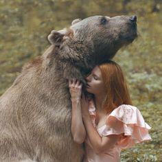 Katerina Plotnikova. Bear. Redhead. Animal. Photography. Wild. Tame.