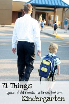 71 things your child needs to know before kindergarten...