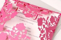 Featured Supplier: Paperbird Designs…..stunning origami and laser cut invitations