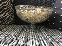 Gold or Silver Mercury Glass Rental Pedestal containers