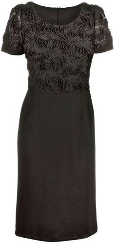James Lakeland Black Front Rose Dress