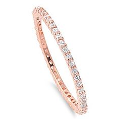 Beautiful wedding band for a rose gold engagement ring. Rose Gold Stackable Eternity CZ Ring 1.5MM Sterling Silver 925 Size 9 ,http://www.amazon.com/dp/B00CHX2X3K/ref=cm_sw_r_pi_dp_mJU-sb1J2ZNWEEPH