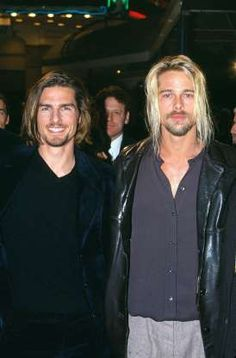 Tom Cruise and Brad Pitt: Lestat and Louis Hollywood Stars, Hollywood Actor, Brad Pitt Interview, Lestat And Louis, Interview With The Vampire, Celebrities Then And Now, Kevin Spacey, Kris Kristofferson, Gary Oldman