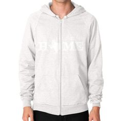 No Place Like Home Zip Hoodie (on man)