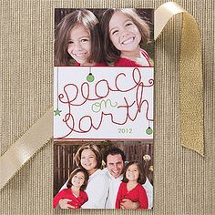 they are the peace on earth personalized photo postcards from personalised christmas cardsfamily - Photo Personalized Christmas Cards