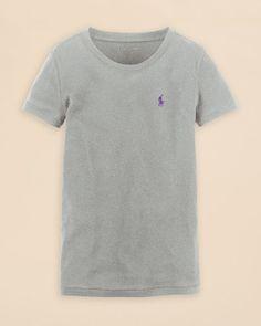 Ralph Lauren Childrenswear Girls' Crewneck Tee - Sizes S-xl