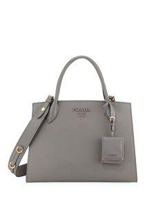02175d8e4e16 Prada Large Monochrome Tote. Designer TotesDesigner HandbagsShopping TotesPrada  BagPrada HandbagsLeather ...