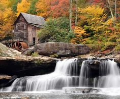 Glade creek gristmill in Babcock state park in West Virginia. ::: West Virginia baby I don't care Beautiful Scenery Wallpaper, Beautiful Landscapes, West Virginia, Fuerza Natural, Waterfall Wallpaper, Hd Nature Wallpapers, Desktop Wallpapers, Hd Wallpaper, Computer Wallpaper