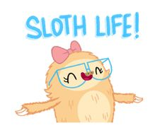 Slothilda Sloth Sticker - Stickers for Facebook, Line, Path