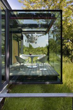 Cube en verre Regards et Maisons