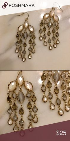 Kendra Scott Chandelier Earrings | Ivory Classic + elegant Kendra earrings...dress up a casual outfit or can be worn with formal attire! Perfect for weddings! Kendra Scott Jewelry Earrings