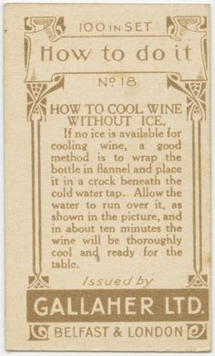 How To Cool Wine Without Ice | Here Are 40 Vintage Life Hacks You Can Still Use Today