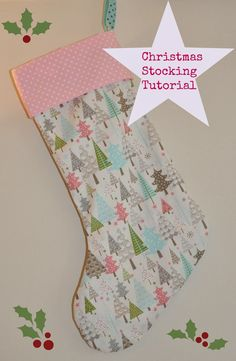 Sew Scrumptious: Christmas Stocking Tutorial and Pattern. The pattern was pretty narrow. I would widen it before cutting out fabric. Otherwise good pattern!