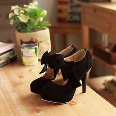 Pantofi pentru femei - Piele de Căprioară - Toc Stiletto - Tocuri / Platforme - Pantofi cu Toc - Birou & Carieră / Rochie - Negru 2016 - $27.99