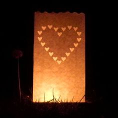 Heart paper candle lantern