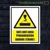 WSKPC165 Sticker K3 Safety Sign Warning Sign Area