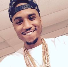 Trey songz lip biting smile OMG