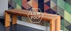 Low Poly Nós já tínhamos um palpite forte para essa tendência no post 'Padrões geométricos: 15 imagens e dicas para você adotar o estilo em casa', inspirados em uma estética popular no design gráfico: o Low Poly – que é basicamente a transformação de objetos e/ou fotos complexas em polígonos com paletas de cores sensacionais – você pode conferir alguns projetos no Dribble e no Behance.  Das telas dos designers, a geometria volta a dominar os interiores.