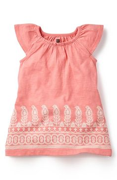 Tea Collection 'Manga Malai' Flutter Sleeve Dress (Baby Girls) available at #Nordstrom