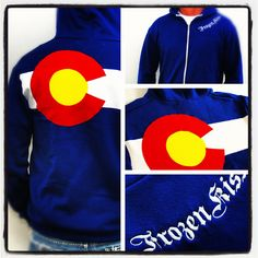 Colorado Flag Hoody zippered sweatshirt. $76.00, via Etsy.