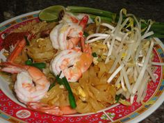Pad Thai.  I used this one since it was written by a Thai woman.  It turned out really great.  We used pork instead of shrimp.  I recommend this one. (c)