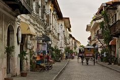 Old Town Vigan, Ilocos Sur, Philippines Vigan Philippines, Philippines Travel, Places Around The World, Around The Worlds, Exotic Beaches, Tropical Beaches, Ilocos, Spanish Towns, Adventure Is Out There